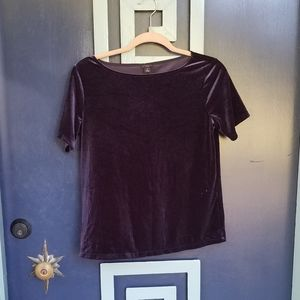 Ann Taylor Petite Purple Velvet Top